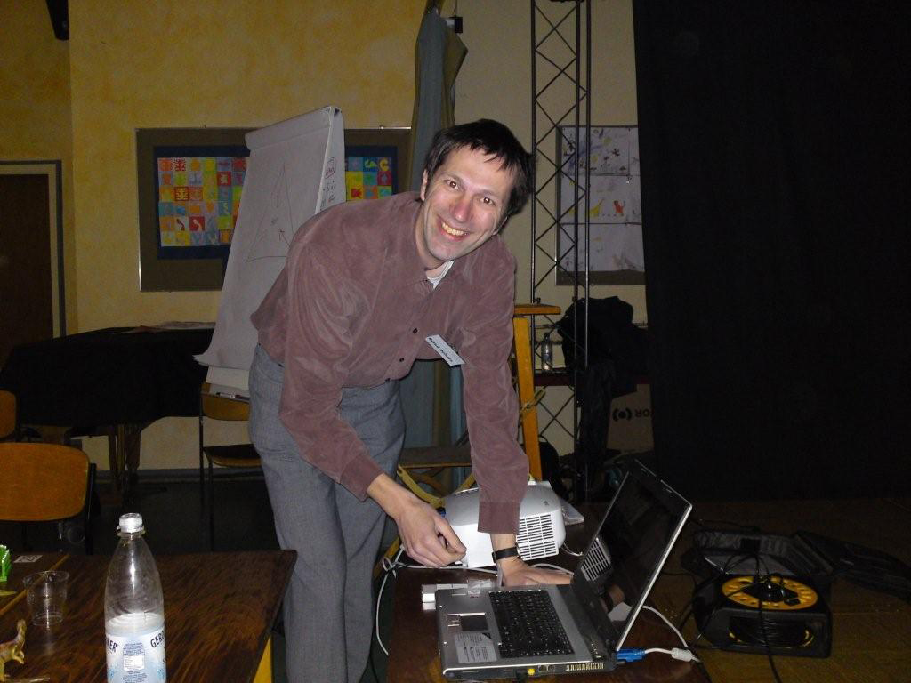 Bernd med datorn